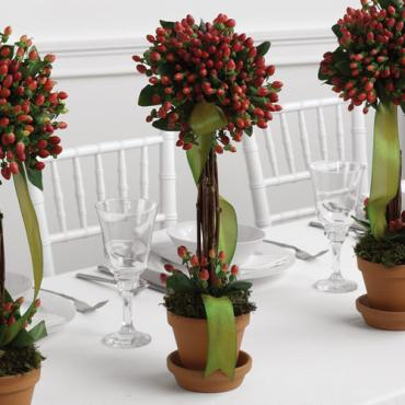 Red Topiary Centerpiece