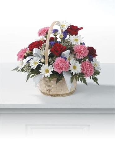 Rose and Carnation Basket<br>CTT 91-21