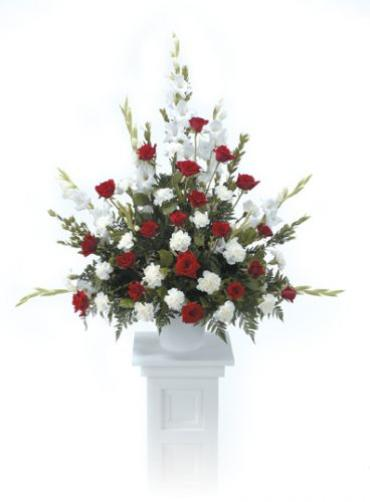 Red And White Pedestal Arrangement<br>CTT 20-11