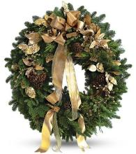 Golden Evergreen Wreath<br>TF97-1