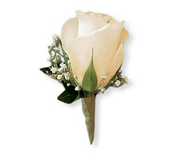 White Ice Boutonniere