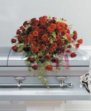Red Rose Casket Spray<br>CTT 21-21
