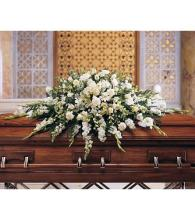 Deluxe Pure White Casket Spray<br>TF195-3