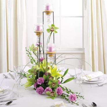 Votive Tower Centerpiece