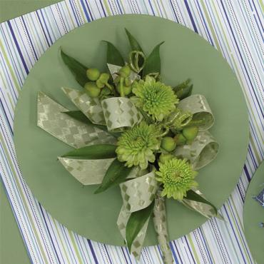 Green Pompon Corsage