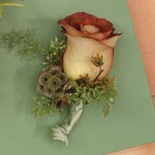 Rose and Eucalyptus Boutonniere