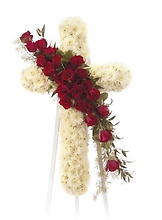Red Rose and mums Cross<br>CTT 21-11