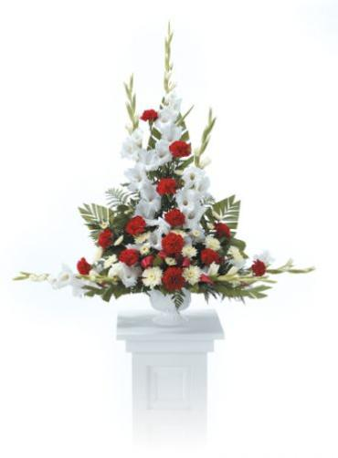 White And Red Pedestal Arrangement<br>CTT 24-21