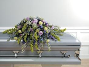 Purple and Lavender Casket Spray<br>CTT55-11
