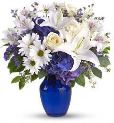 Beautiful In Blue Bouquet<br>T209-3A