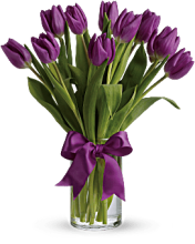 Passionate Purple Tulips<br>T148-2A