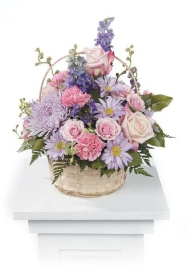 Lavender and Pink Basket Arrangement<br>CTT 61-32