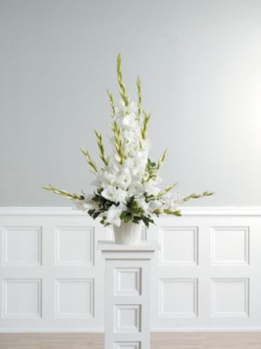 White Gladiolus Arrangement<br>CTT 5-11