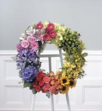 Premium Mixed Flower Wreath<br>CTT 83-11