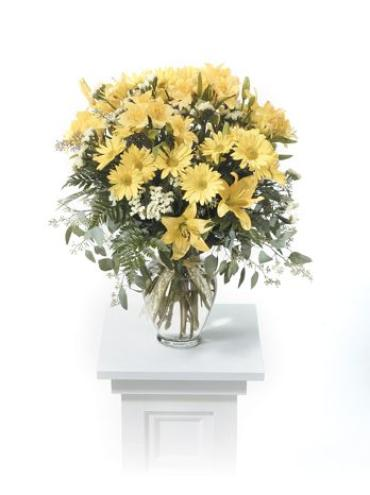 Yellow Vase Arrangement<br>CTT34-11