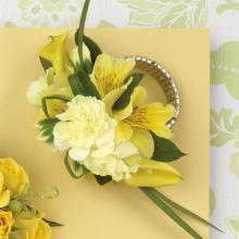 Yellow Alstromeria and Calla Corsage