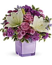 Teleflora\'s Pleasing Purple Bouquet<BR>TEV45-1A