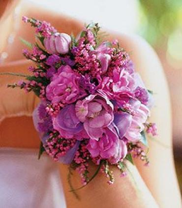 Purple and Lavender Corsage