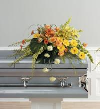 Yellow and Green Casket Spray<br>CTT 35-11