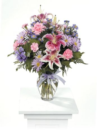 Pink and Lavender Vase Arrangement<br>CTT 61-22