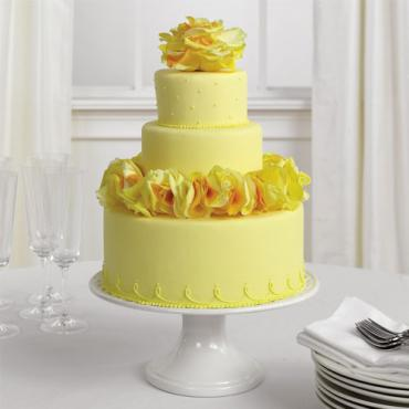 Yellow Rose Cake Decorations