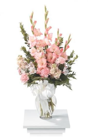 Peach and Pink Vase Arrangement<br>CTT 73-21
