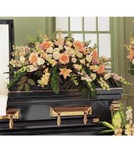 Peach Comfort Casket Spray<br>TF196-1