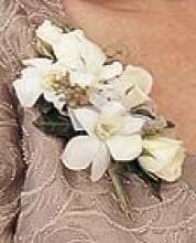 White Rose and Orchid Corsage