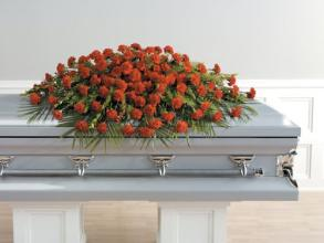 Red Carnation Casket Spray<br>CTT25-21
